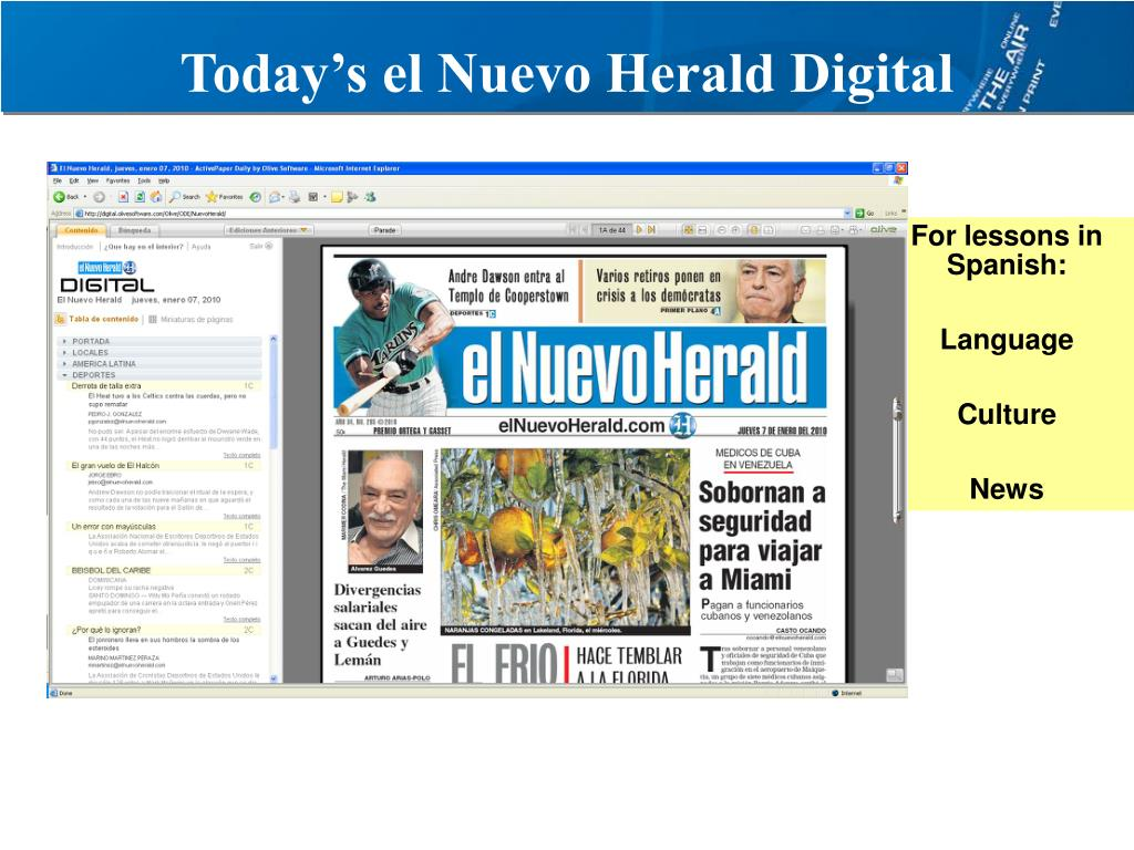 Today's el Nuevo Herald Digital
