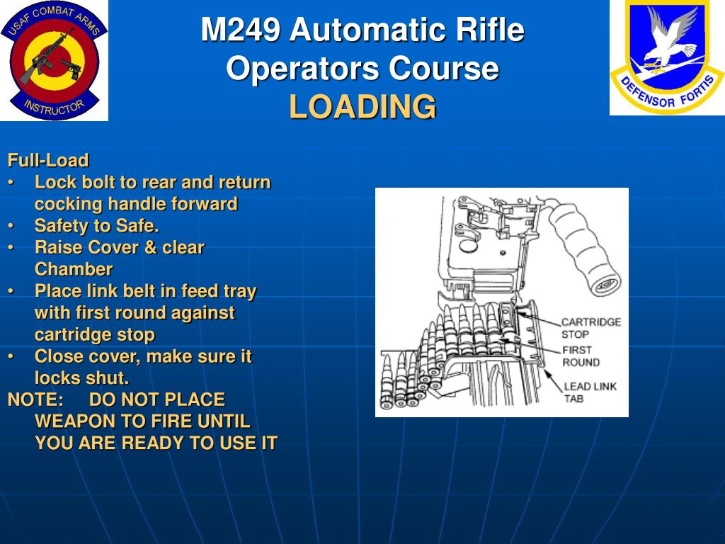 PPT - M249 Automatic Rifle Operators Course PowerPoint ...