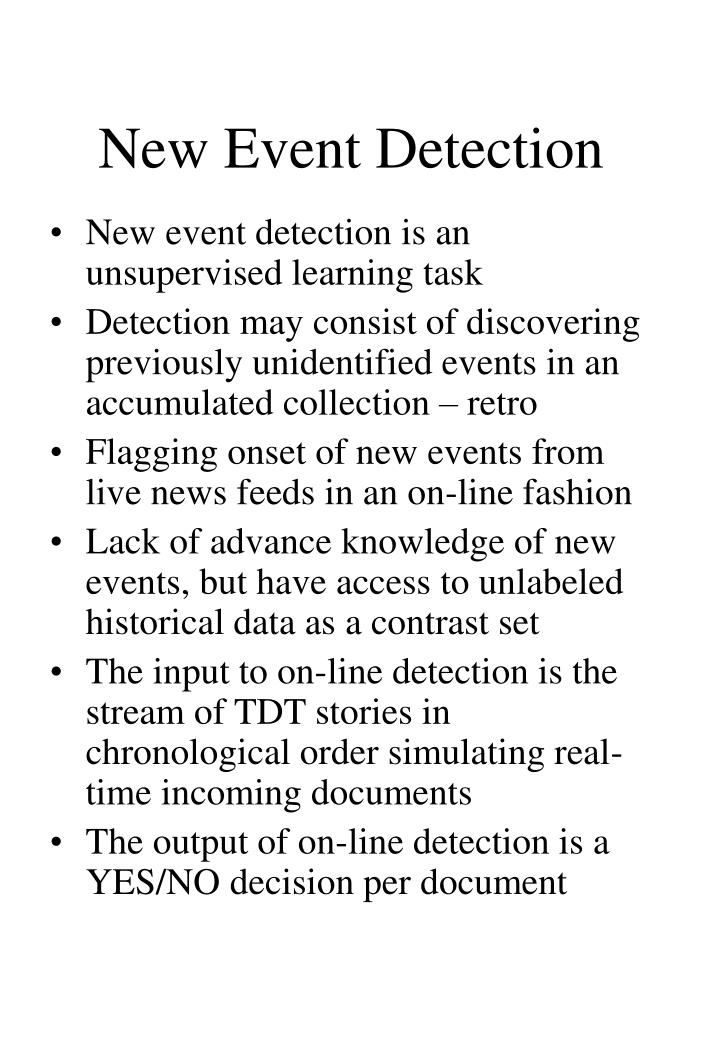 New Event Detection