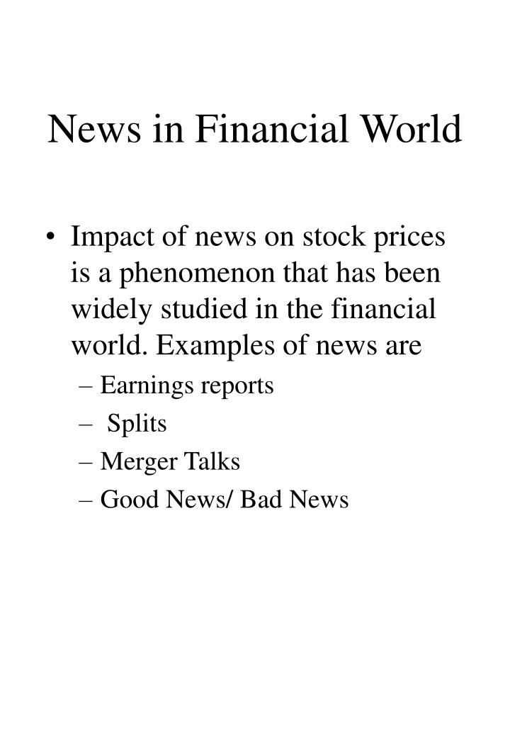 News in Financial World