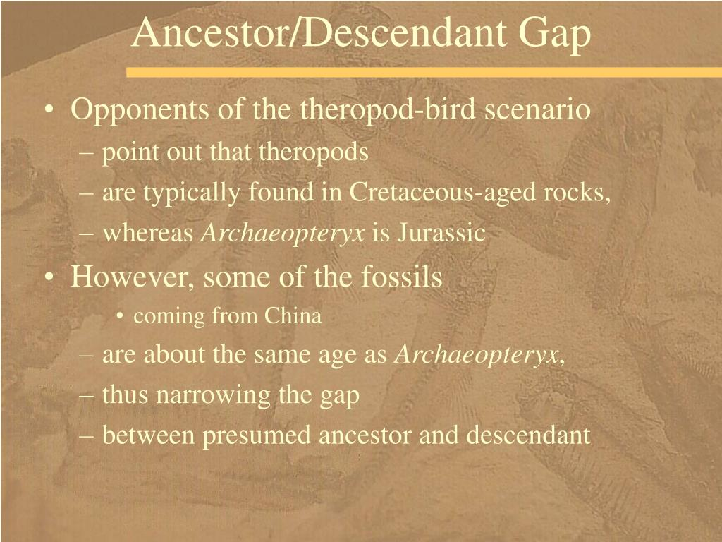 Ancestor/Descendant Gap