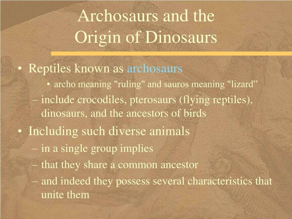 Archosaurs and the