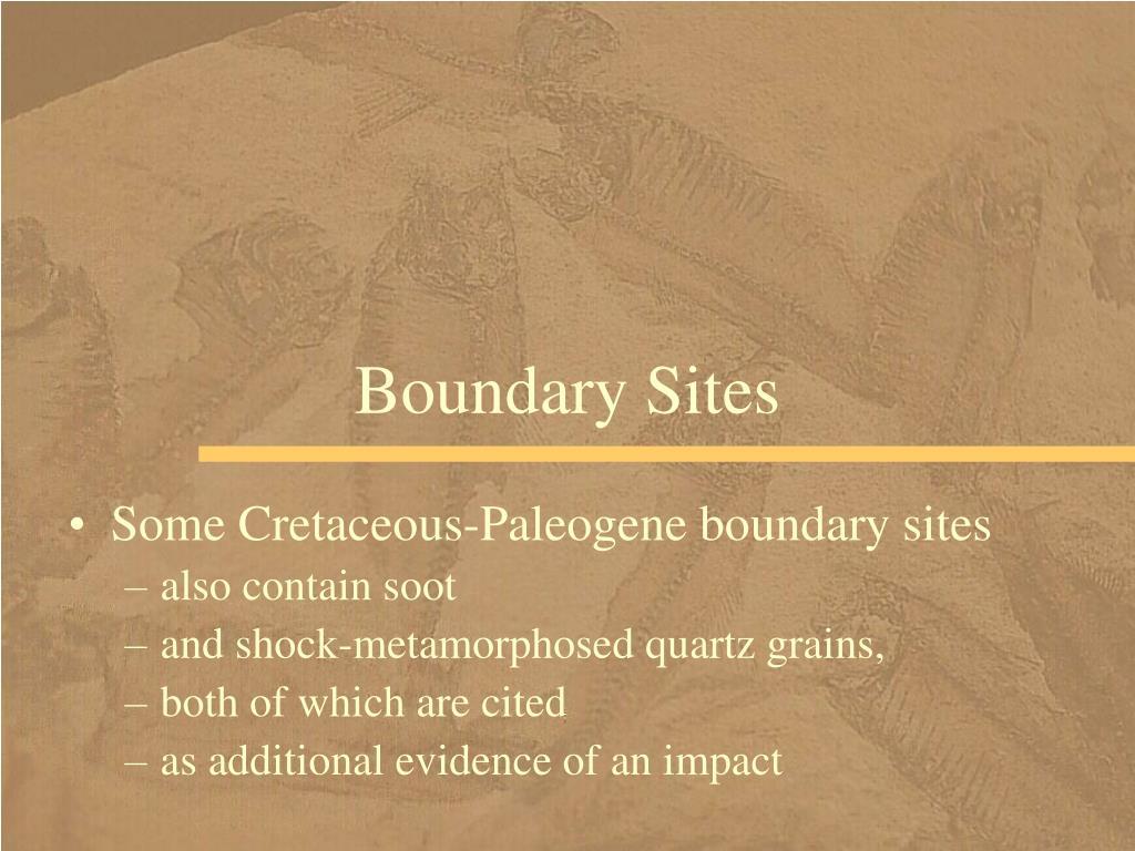 Boundary Sites