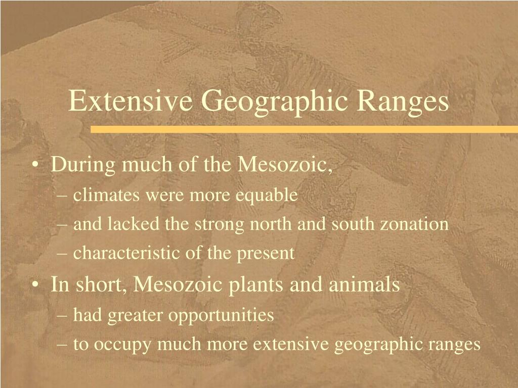 Extensive Geographic Ranges