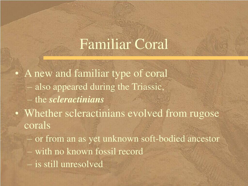 Familiar Coral