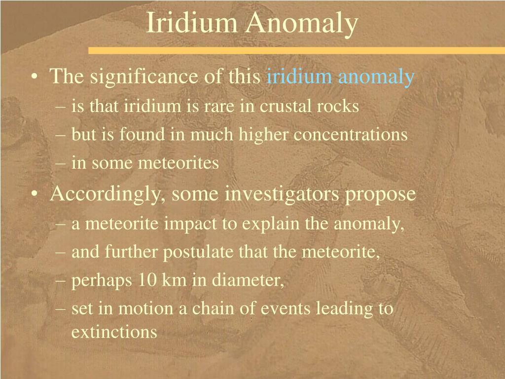 Iridium Anomaly
