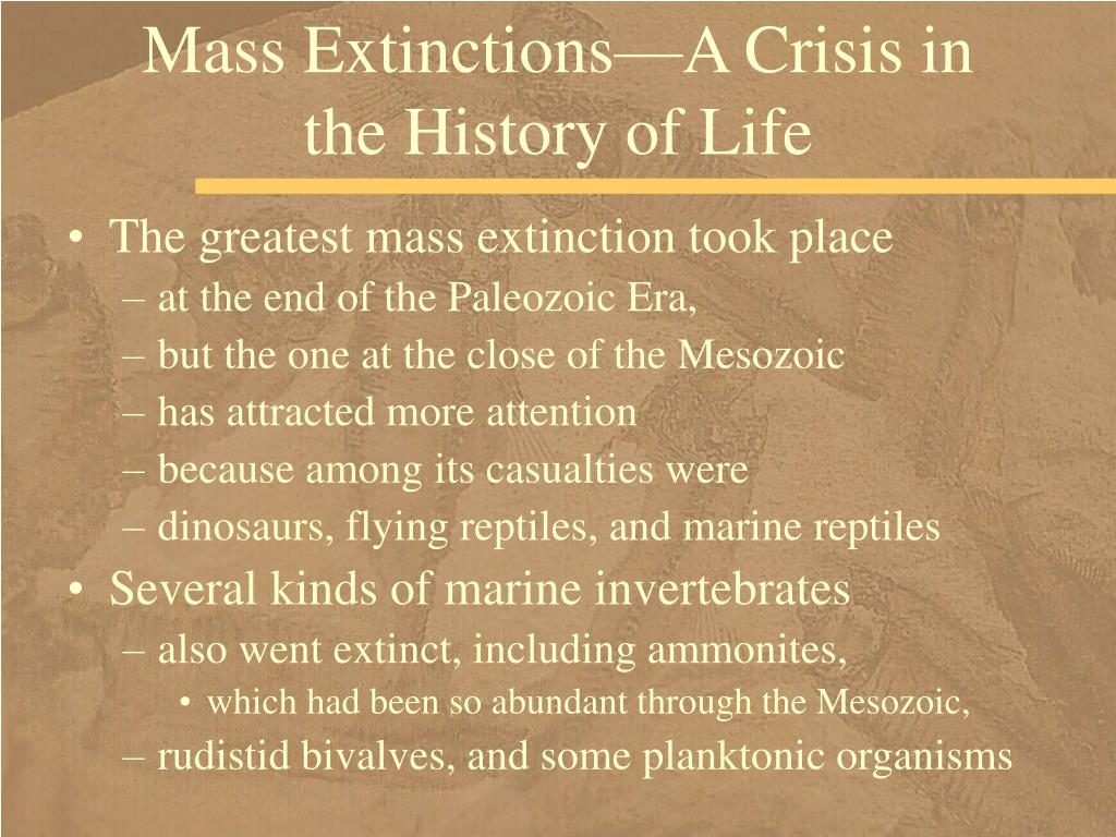 Mass Extinctions—A Crisis in the History of Life
