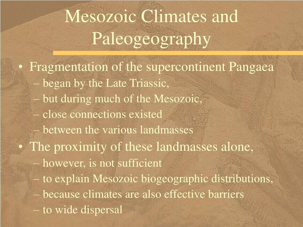 Mesozoic Climates and Paleogeography