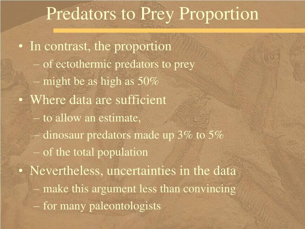 Predators to Prey Proportion