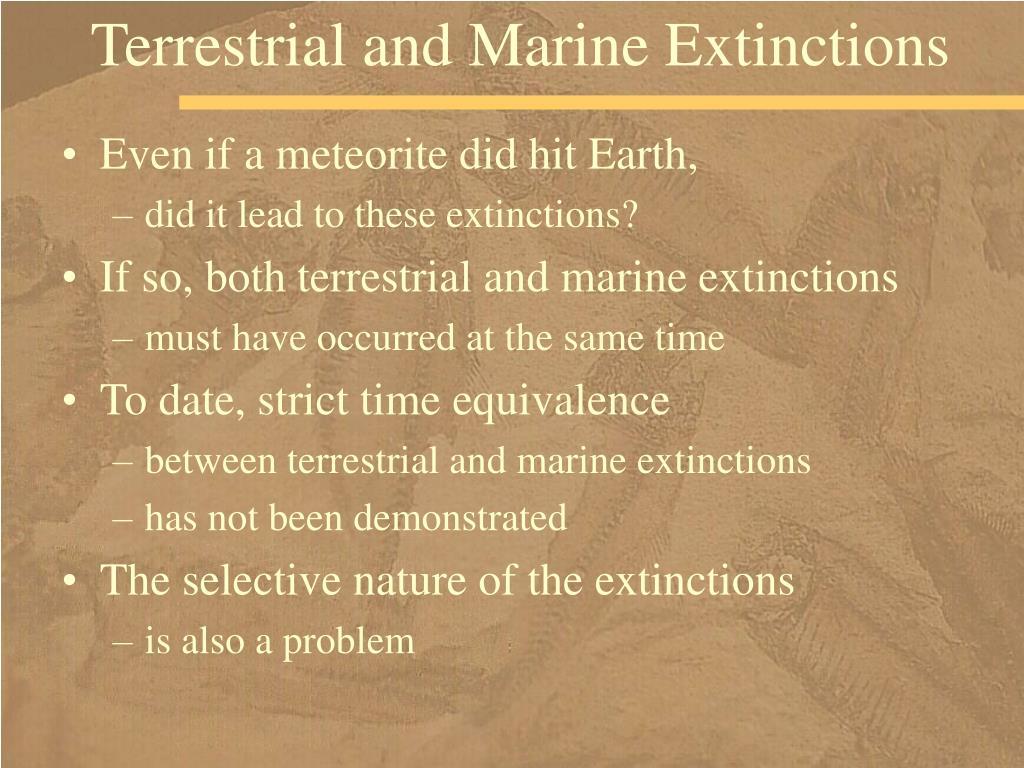Terrestrial and Marine Extinctions