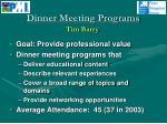 dinner meeting programs