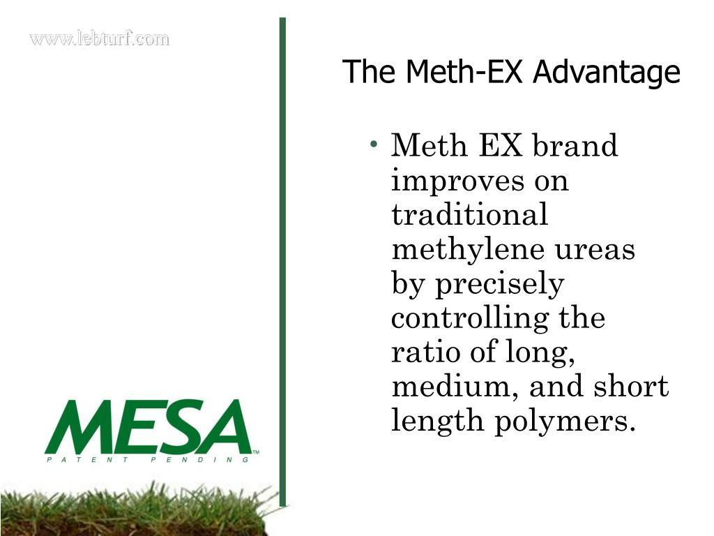 Meth EX brand improves on traditional methylene ureas by precisely  controlling the ratio of long, medium, and short length polymers.
