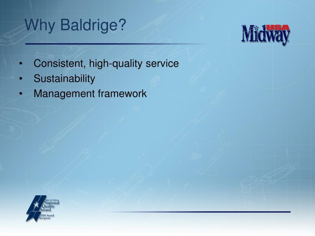 Why Baldrige?
