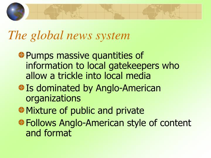 The global news system