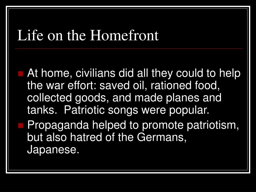 Life on the Homefront
