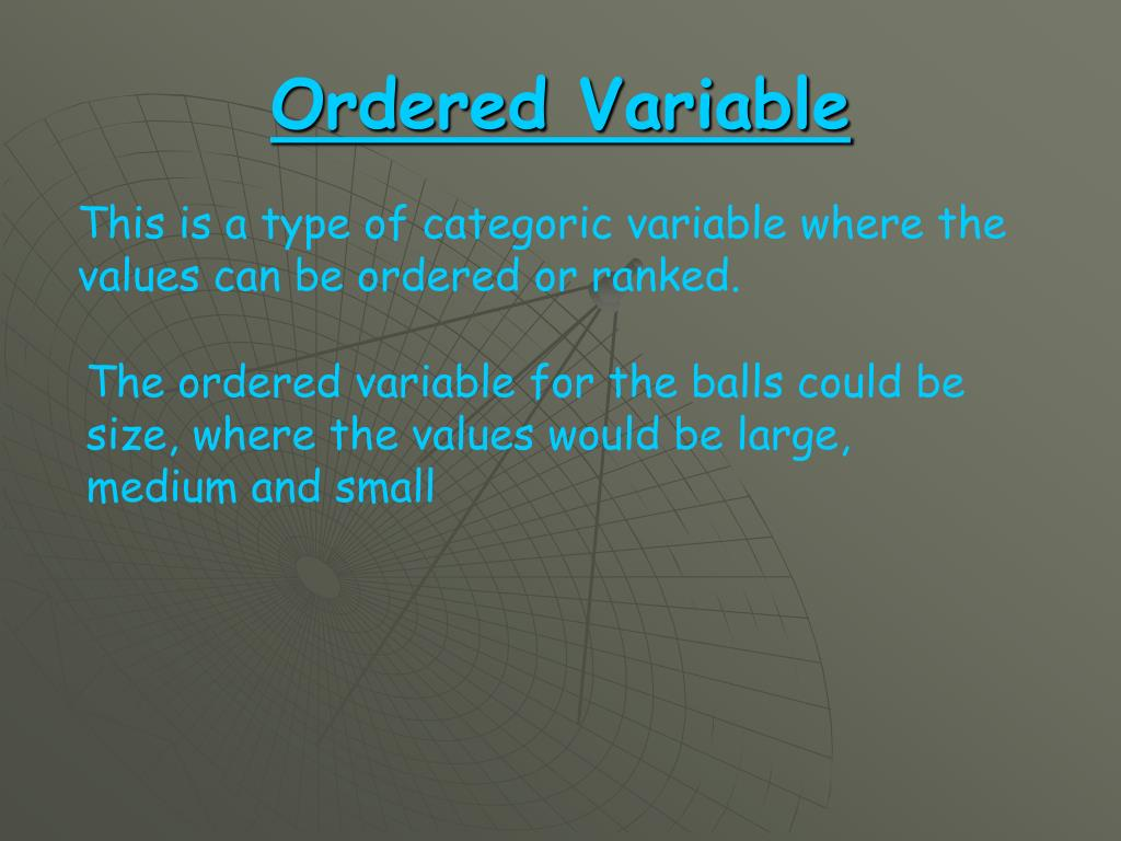 Ordered Variable