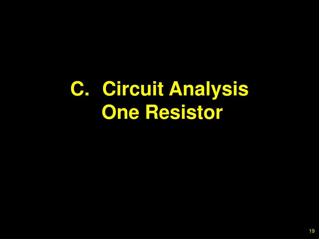 C.Circuit Analysis