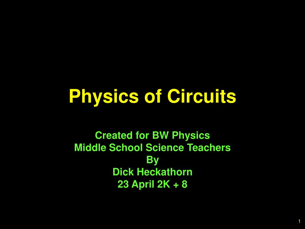 physics of circuits
