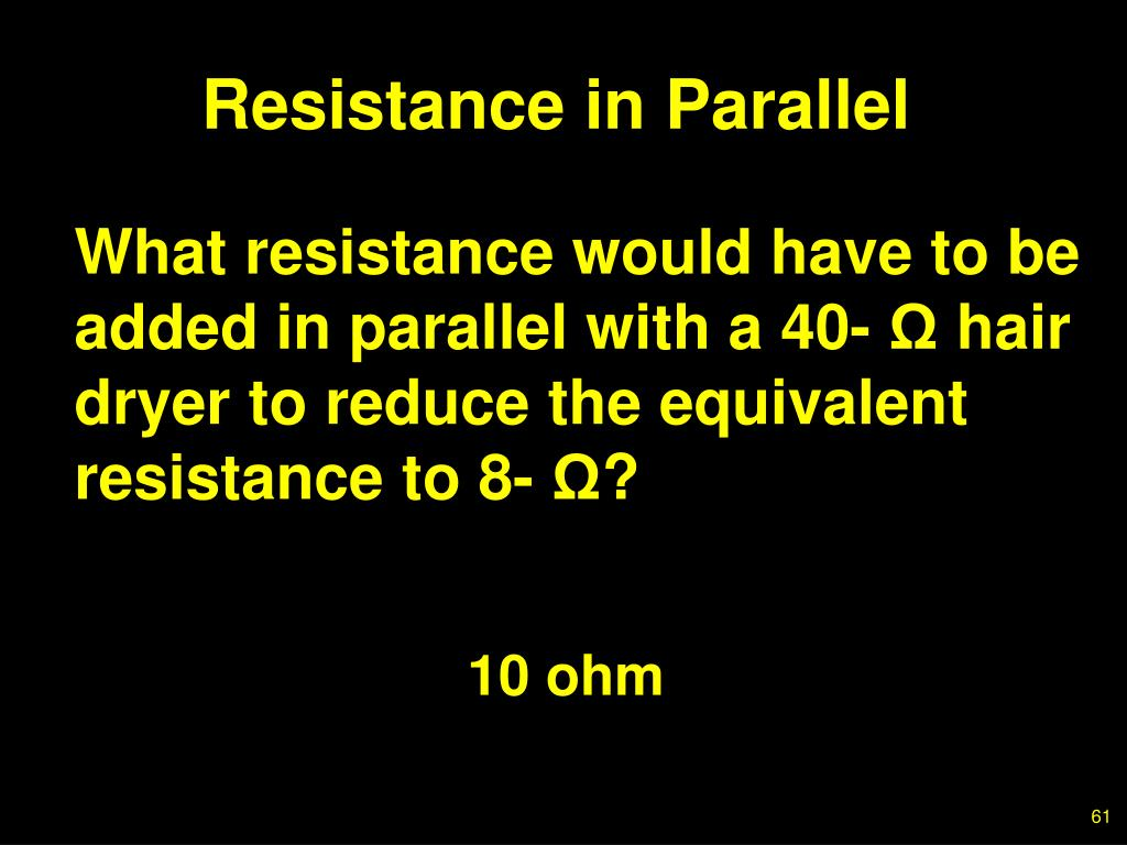Resistance in Parallel