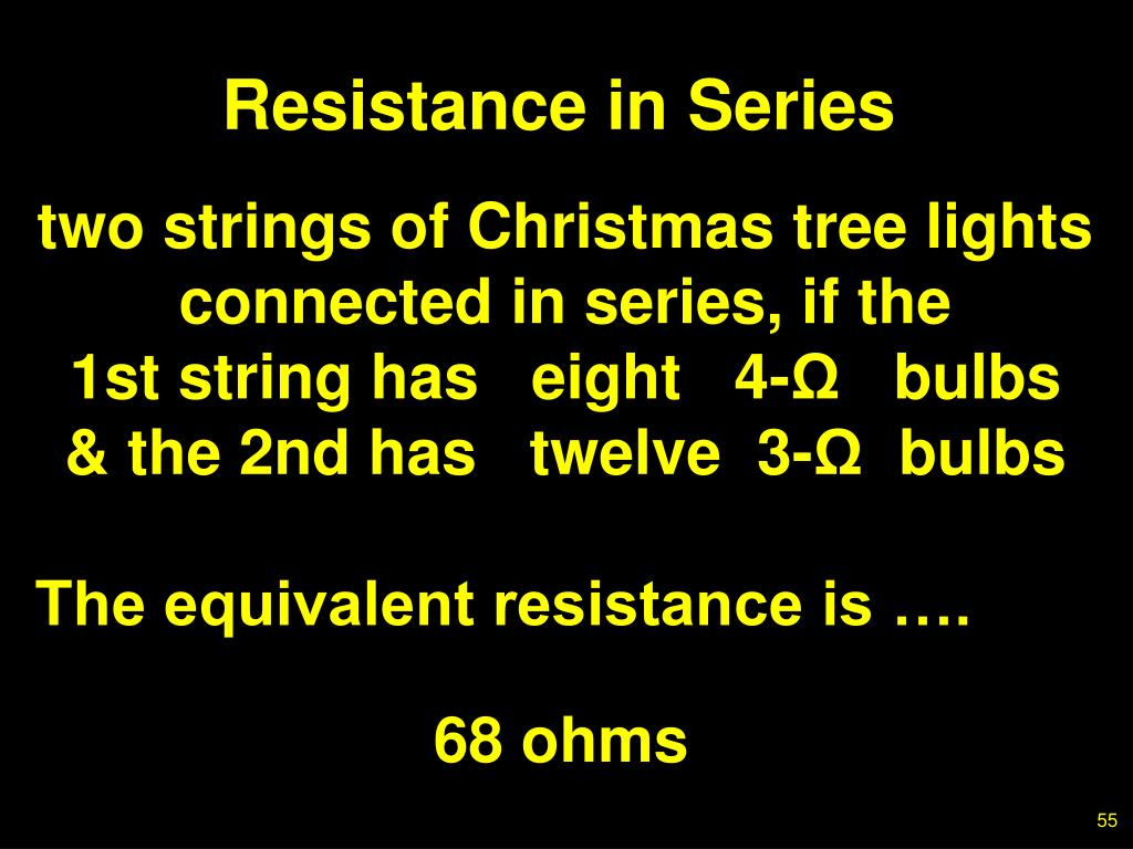 Resistance in Series