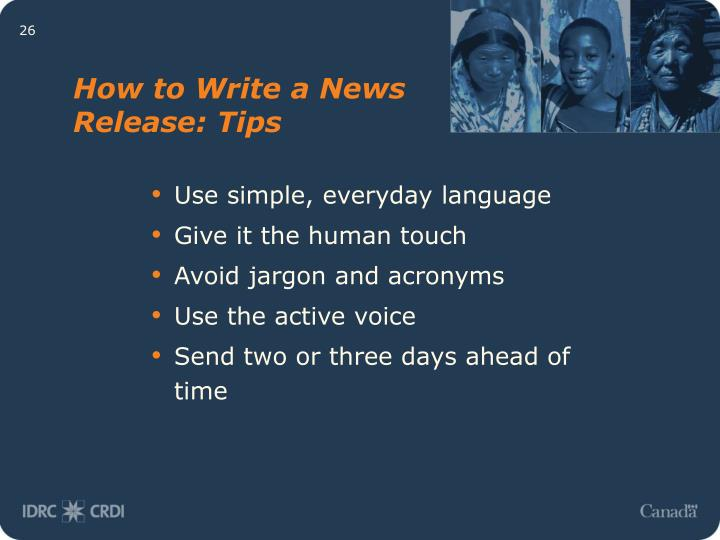 How to Write a News Release: Tips