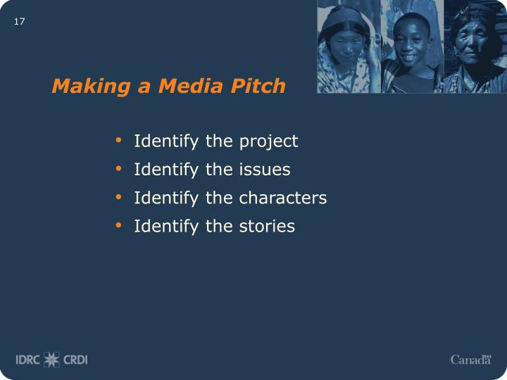 Making a Media Pitch
