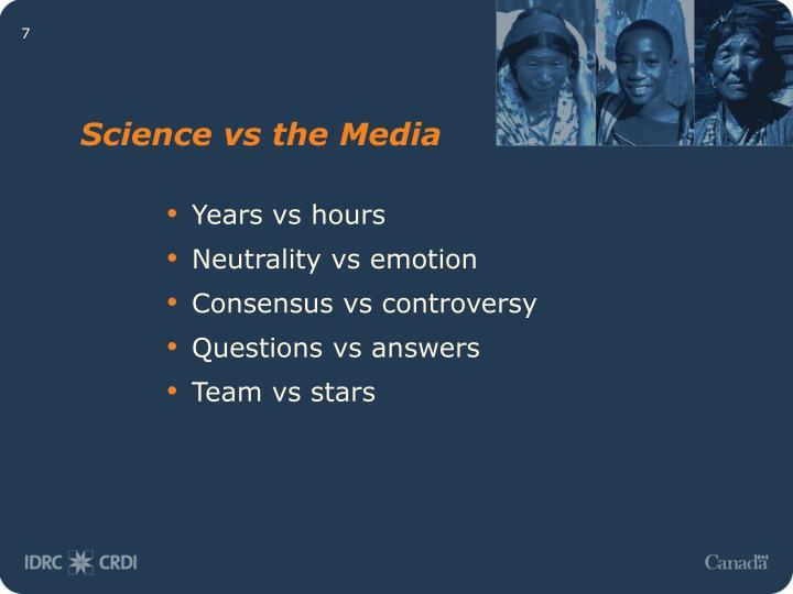 Science vs the Media