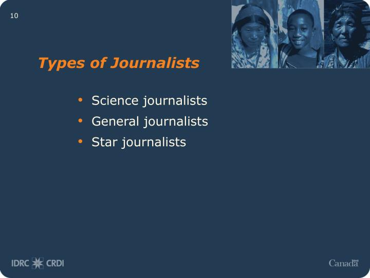 Types of Journalists