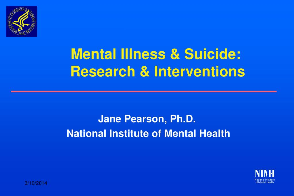mental illness suicide research interventions