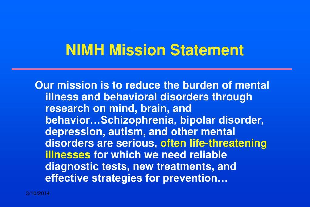 NIMH Mission Statement