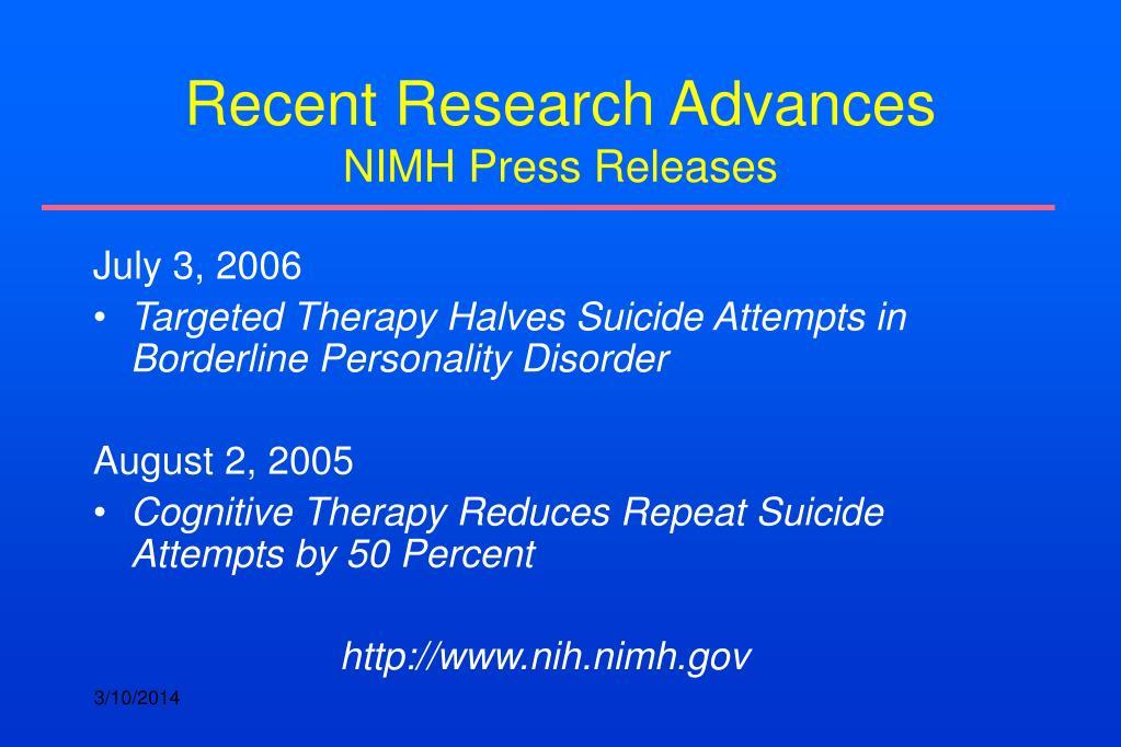 Recent Research Advances