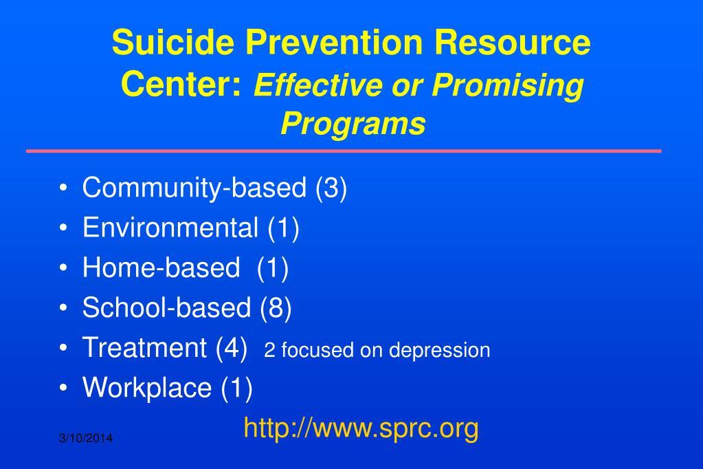 Suicide Prevention Resource Center: