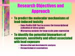 research objectives and approach1