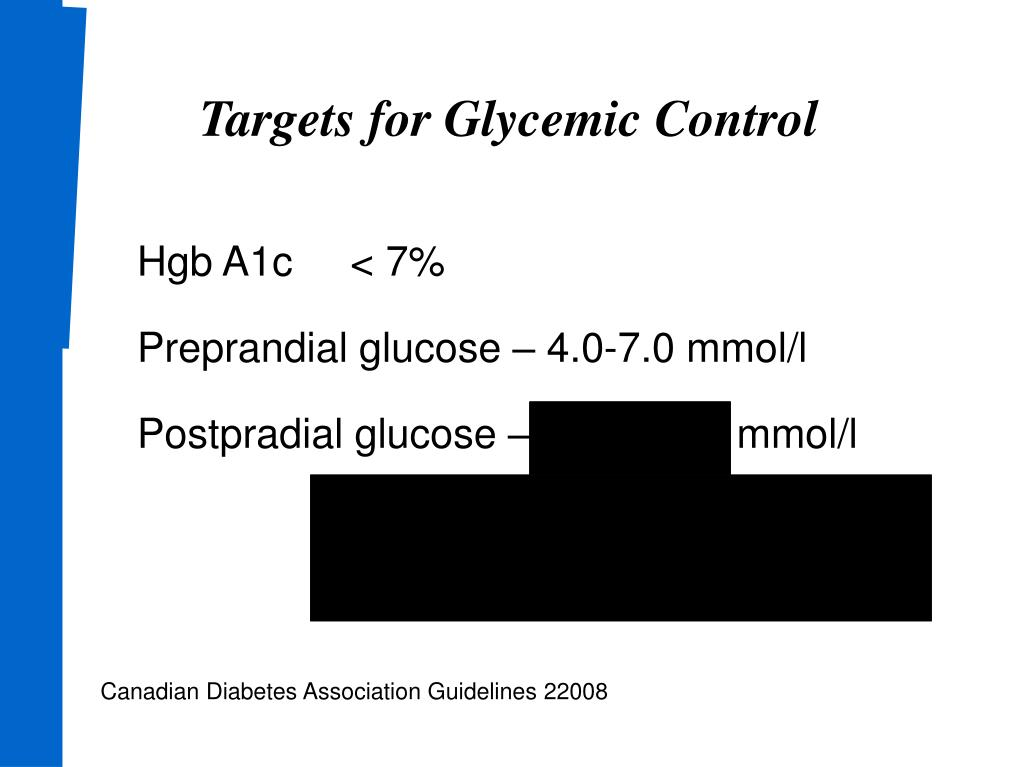 Targets for Glycemic Control