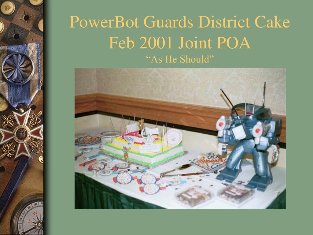 PowerBot Guards District Cake