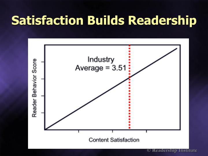 Satisfaction Builds Readership