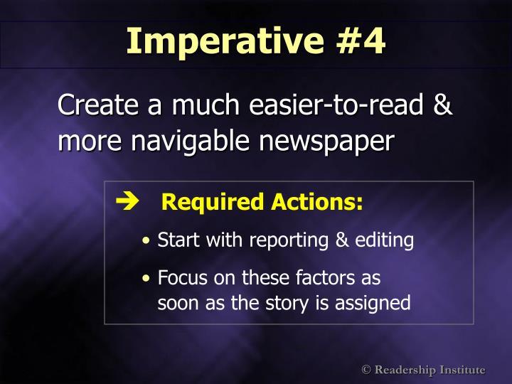 Imperative #4
