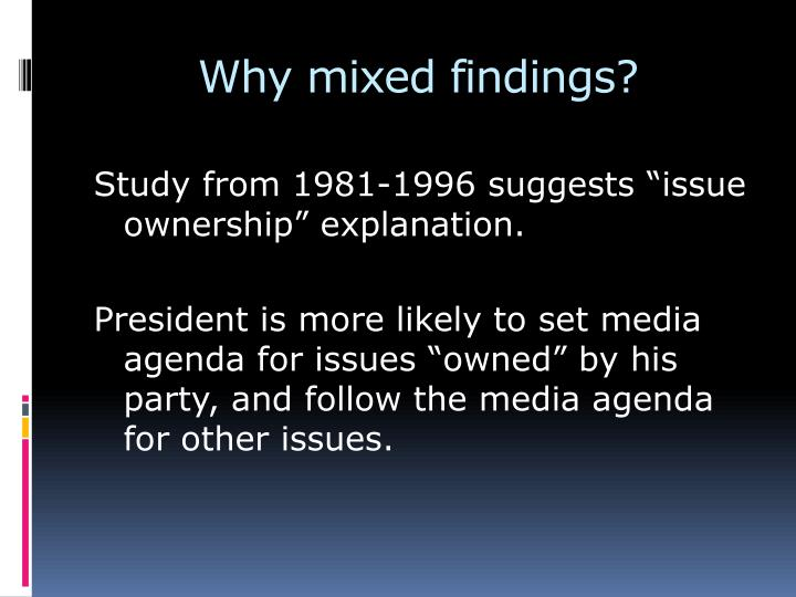 Why mixed findings?