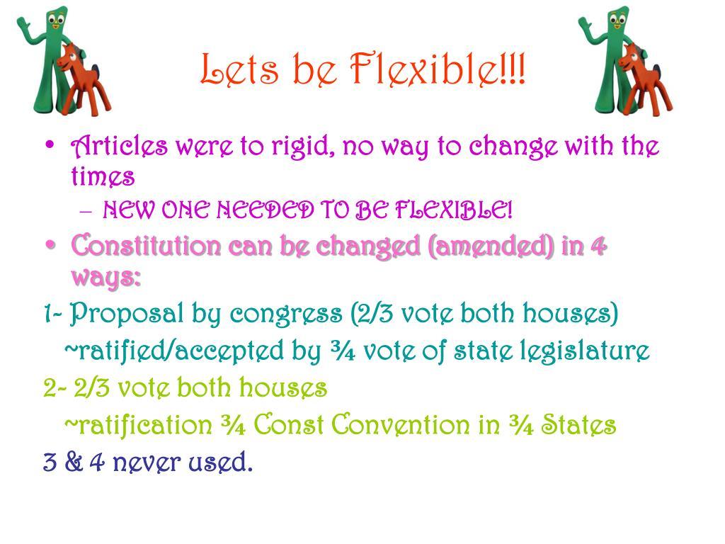 Lets be Flexible!!!