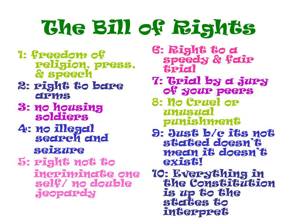 1: freedom of religion, press, & speech