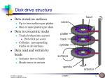 disk drive structure