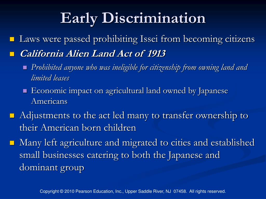 Early Discrimination