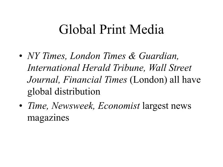 Global Print Media