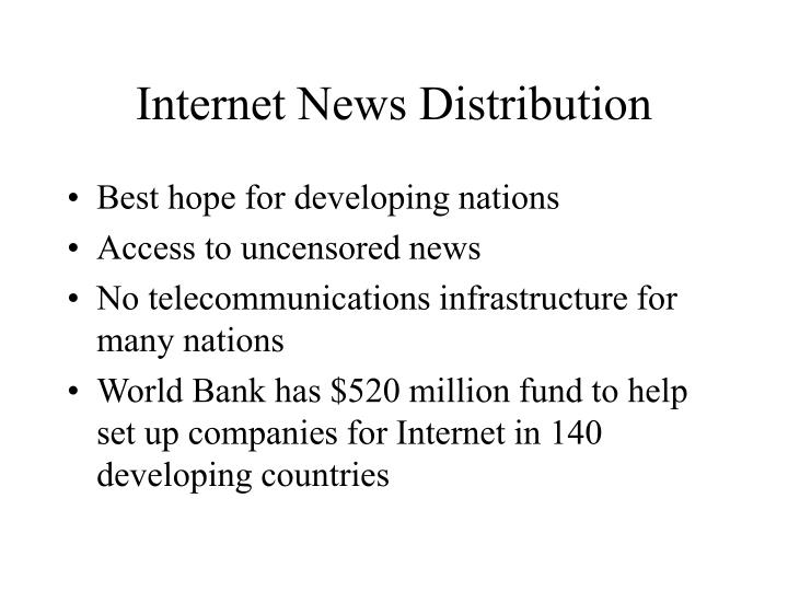 Internet News Distribution