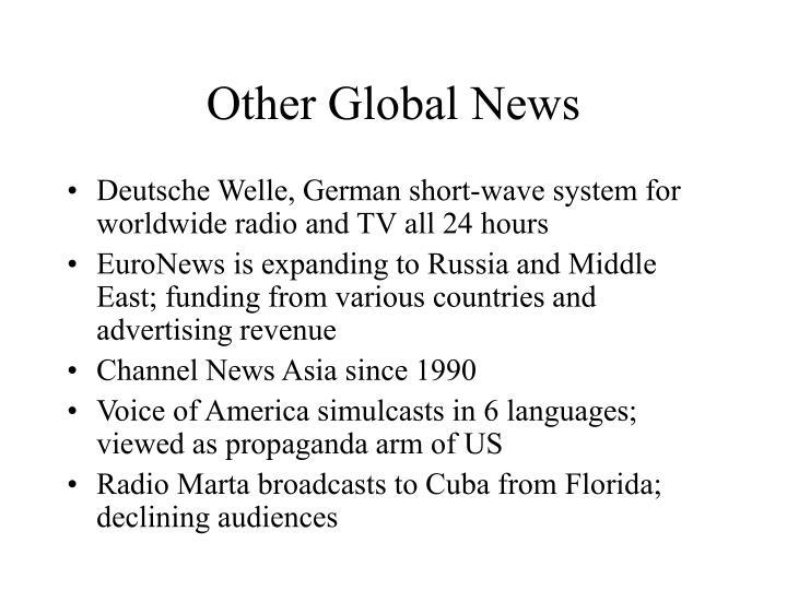 Other Global News