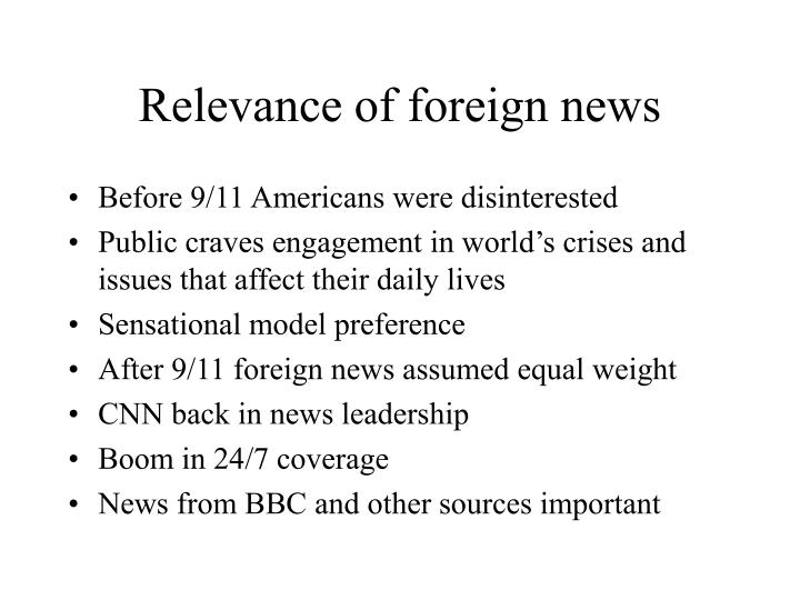 Relevance of foreign news