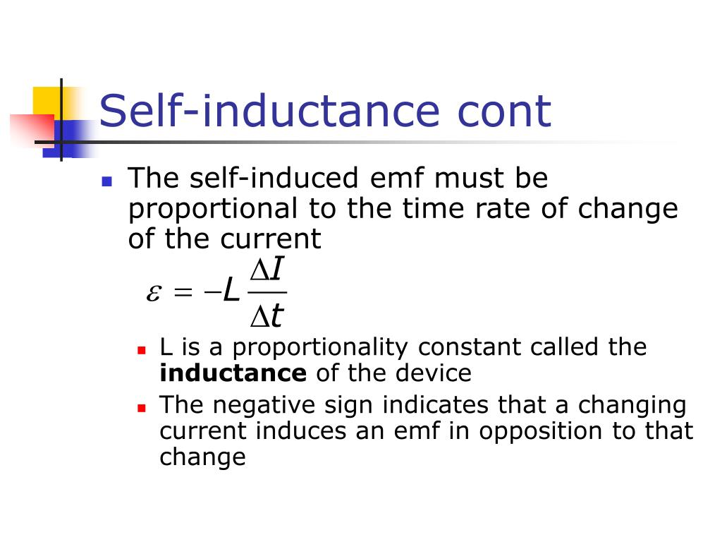 Self-inductance cont