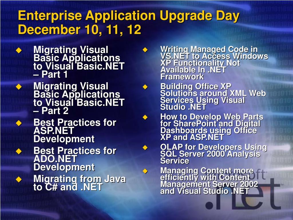 Migrating Visual Basic Applications to Visual Basic.NET – Part 1
