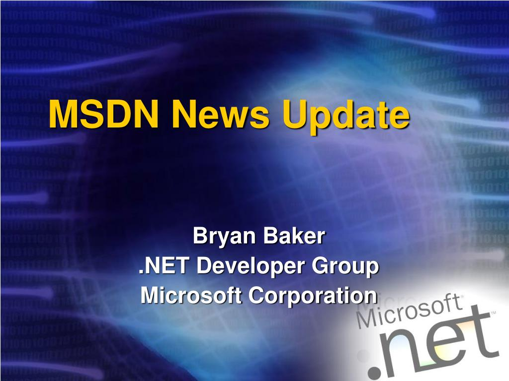 MSDN News Update