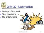 john 20 resurrection